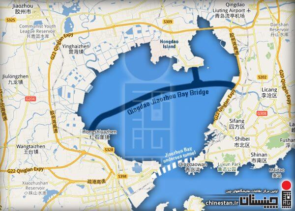 Jiaozhou-Bay-Bridge-Map