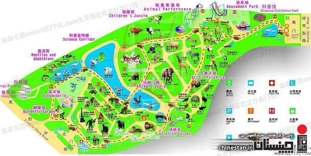 Guangzhou-zoo-map