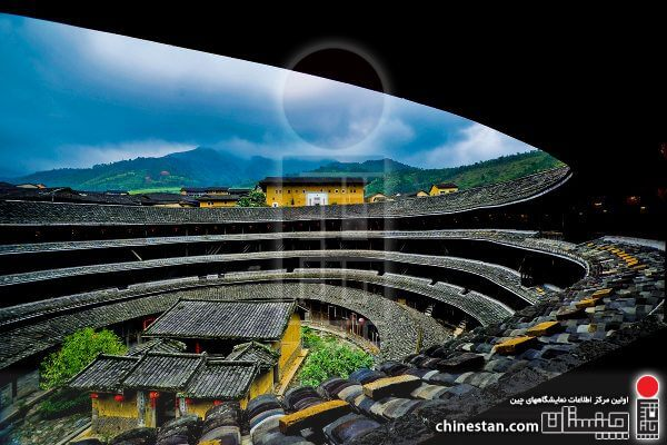 31 Aug 2009, Fujian Province, China --- Inside view of a tulou or an earthen building in Yongding county, southeast Chinas Fujian province, 31 August 2009. --- Image by © Imaginechina/Corbis